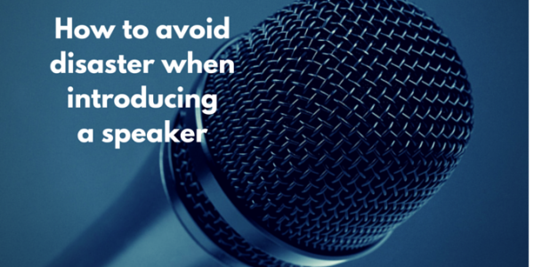 How to avoid disaster when introducing a speaker on stage kate burr how to avoid disaster when introducing a speaker on stage thecheapjerseys Gallery